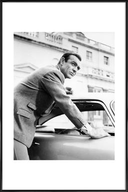 Sean Connery as James Bond in Goldfinger, 1964 - Poster in Standard Frame