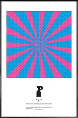 P - Pop Art - Poster in Standard Frame
