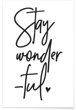 Stay Wonderful Notebook Juniqe