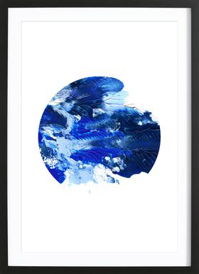 Holy Smudge (Blue) - Poster im Holzrahmen