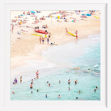 Beach - Poster in Wooden Frame