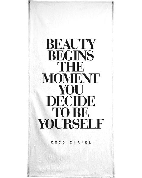 Beauty Begins Coco Chanel Zitat Poster