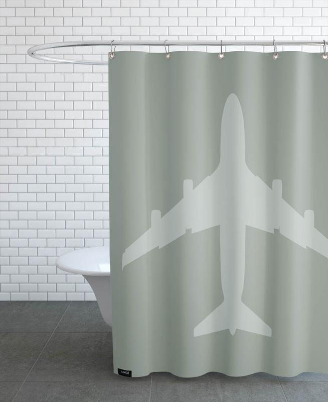 The Jet Poster Shower Curtain