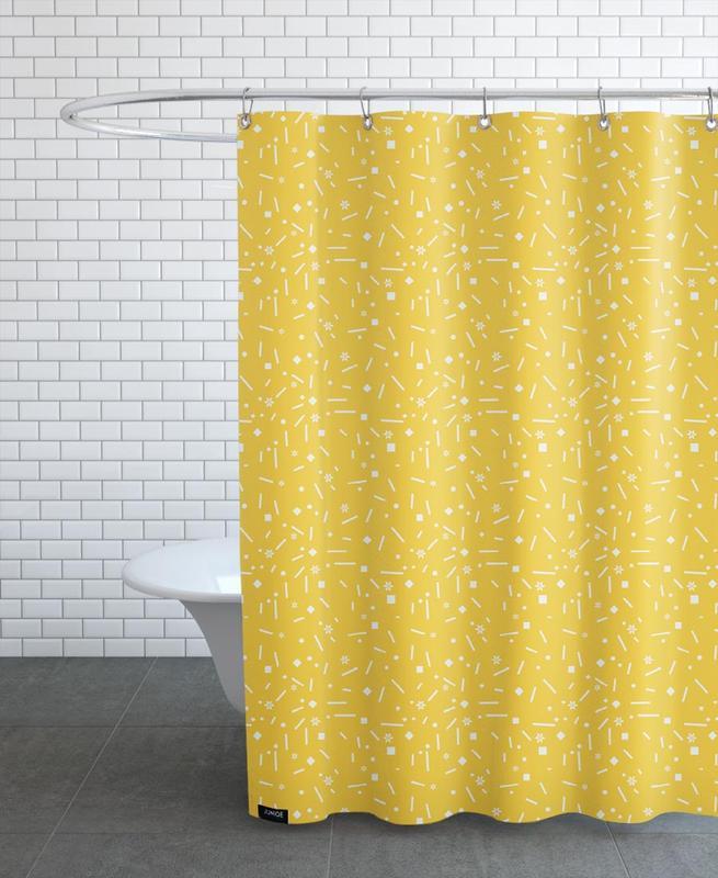 Abstrakt Gelb -Duschvorhang