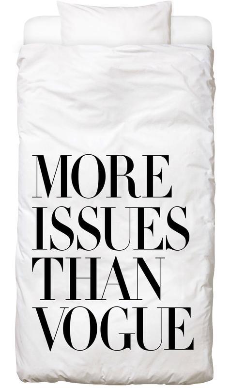 More Issues Than Vogue White Bettwäsche