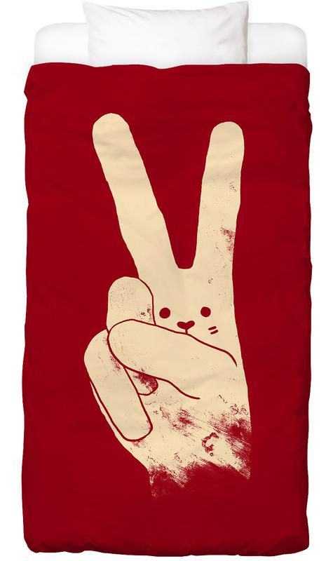 Love, Peace and Carrots housse de couette enfant