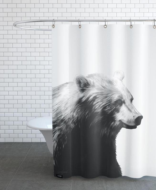 Calm Black and White Shower Curtain