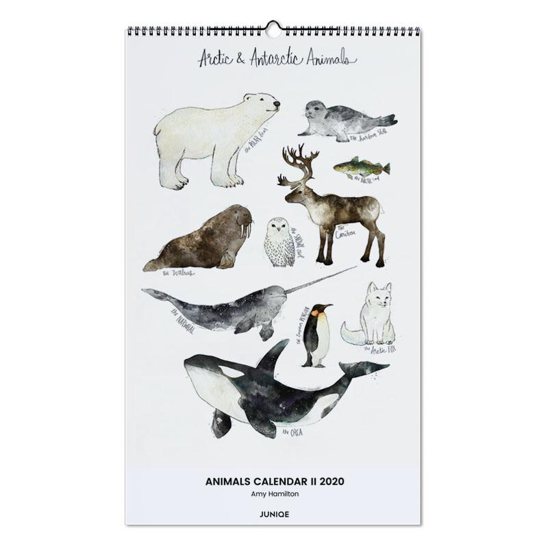 Animals Calendar II 2020 - Amy Hamilton Wall Calendar