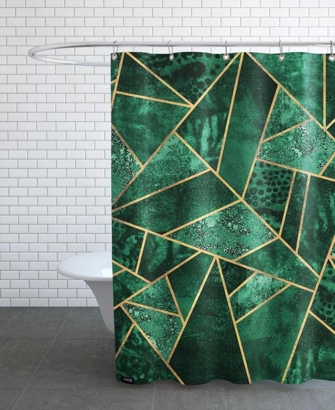 Deep Emerald Shower Curtain