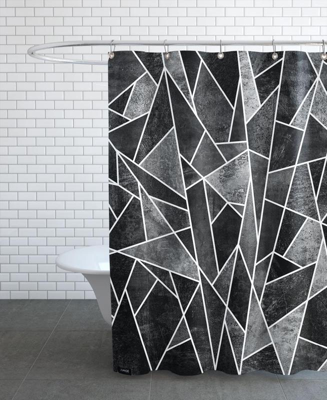 Shattered Black -Duschvorhang