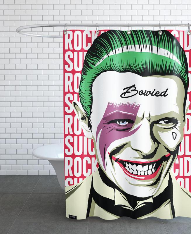 Rock'n'Roll Suicide Shower Curtain