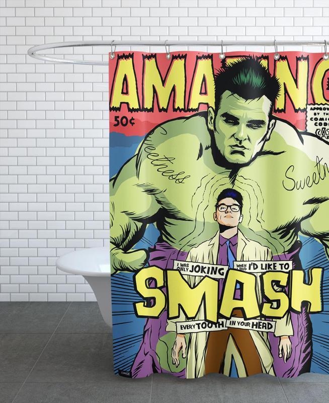 Post-Punk Smash Shower Curtain