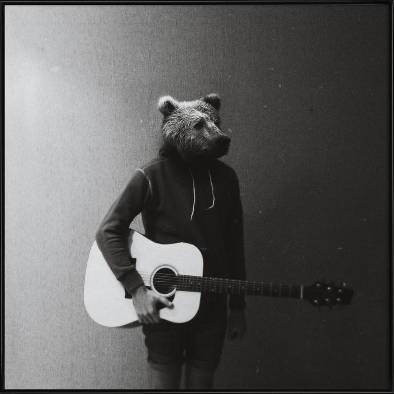 Animals in my room - Bear affiche encadrée