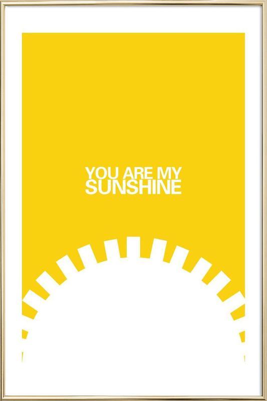 The Sunshine Poster Poster in Aluminium Frame