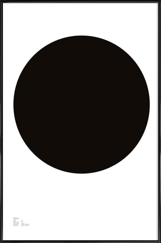 The Carbon Poster -Bild mit Kunststoffrahmen
