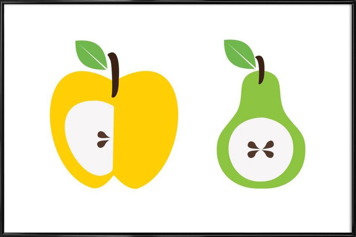 The Apple And Pear Poster -Bild mit Kunststoffrahmen