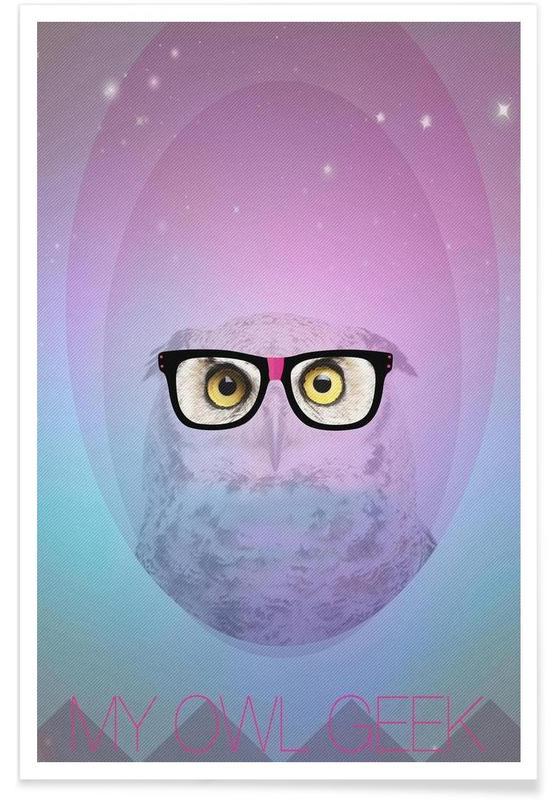 My Owl Geek Poster