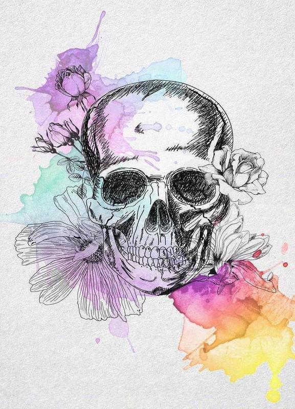 Color Skull toile