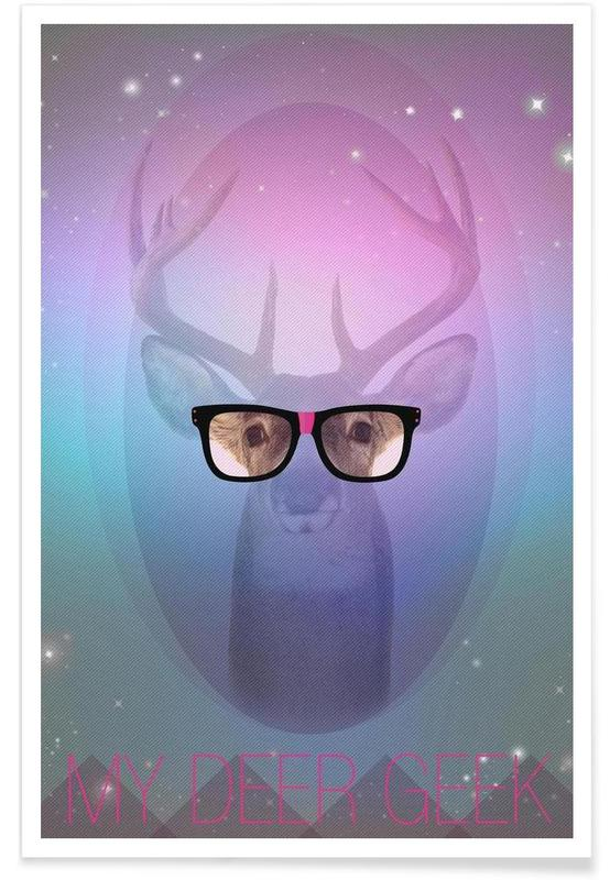 My Deer Geek Poster
