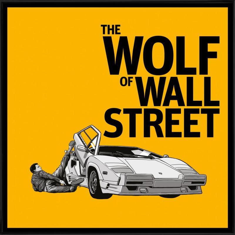 The Wolf of Wall Street -Bild mit Kunststoffrahmen