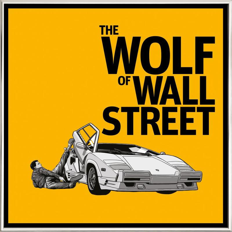The Wolf of Wall Street -Poster im Alurahmen