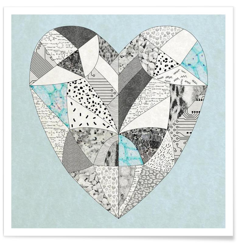 Chemical reaction heart poster