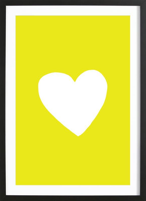 Sunshine Heart affiche sous cadre en bois