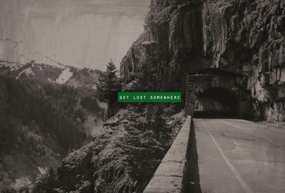 Get Lost Somewhere -Acrylglasbild