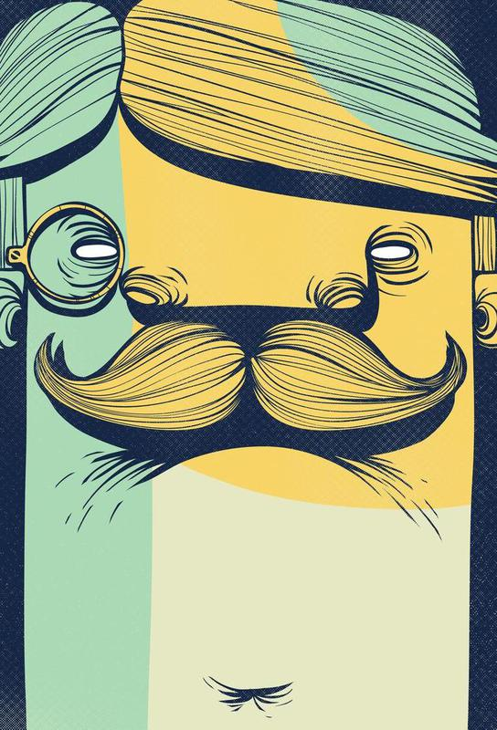 THE MUSTACHE Impression sur alu-Dibond