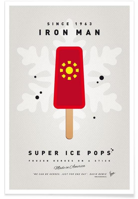 My Superhero Ice Pop - Iron Man Poster