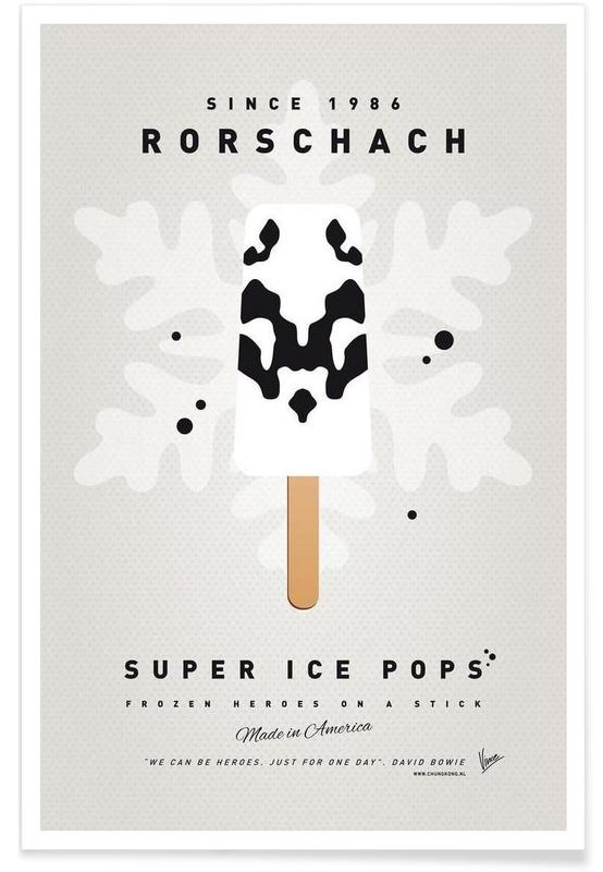 My Superhero Ice Pop - Rorschach Poster