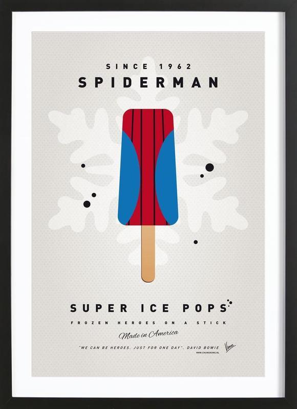 My Superhero Ice Pop - Spiderman ingelijste print
