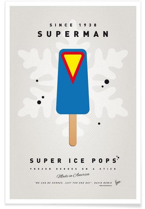 My Superhero Ice Pop - Superman Poster