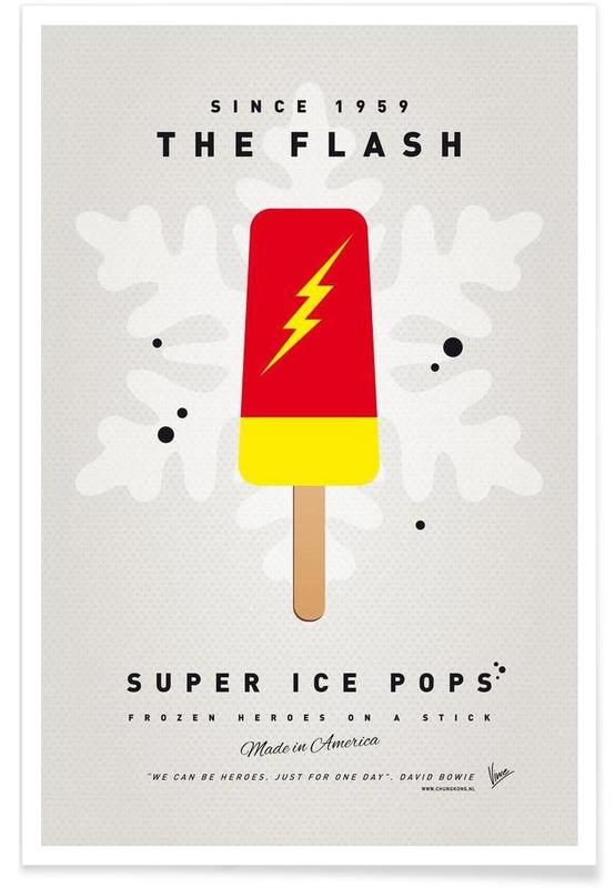 My Superhero Ice Pop - The Flash Poster