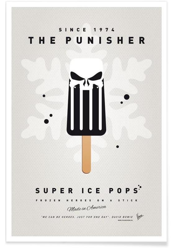 My Superhero Ice Pop - The Punisher Poster