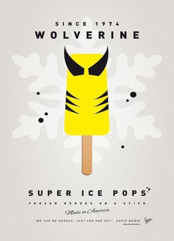 My Superhero Ice Pop - Wolverine Canvas Print