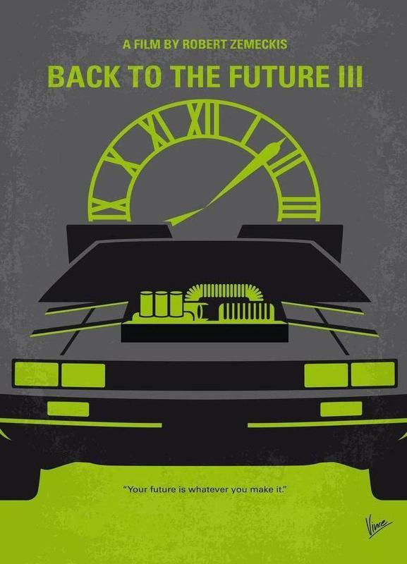 Back to the Future III canvas doek
