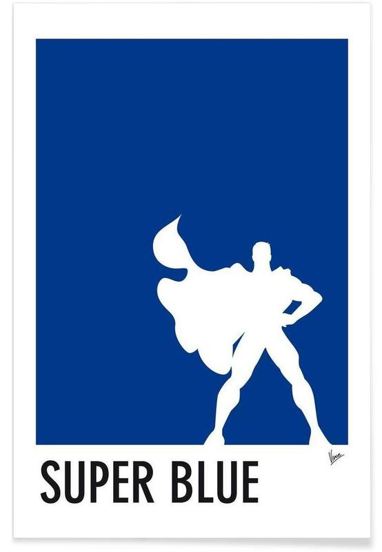 My Superhero 03 SuperBlue Minimal Poster affiche
