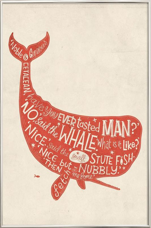 How the Whale got his throat poster in aluminium lijst