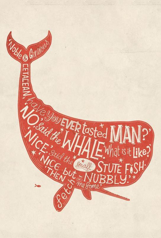 How the Whale got his throat acrylglas print