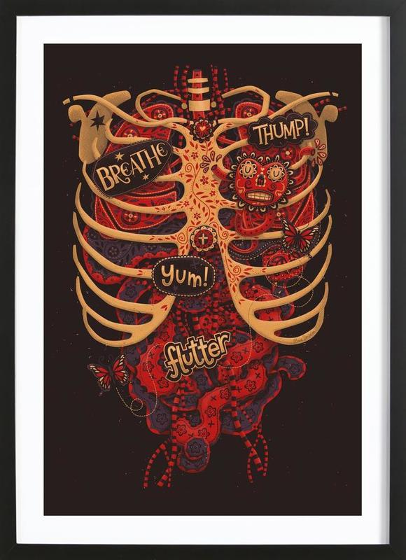 Anatomical Study -Bild mit Holzrahmen