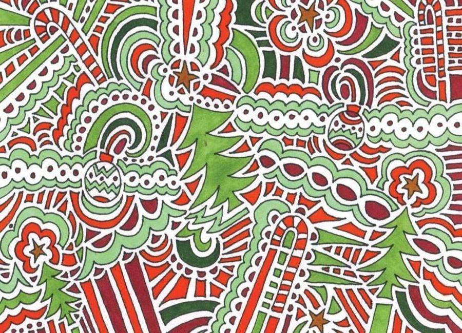 Holiday Drawing 2 Canvas Print