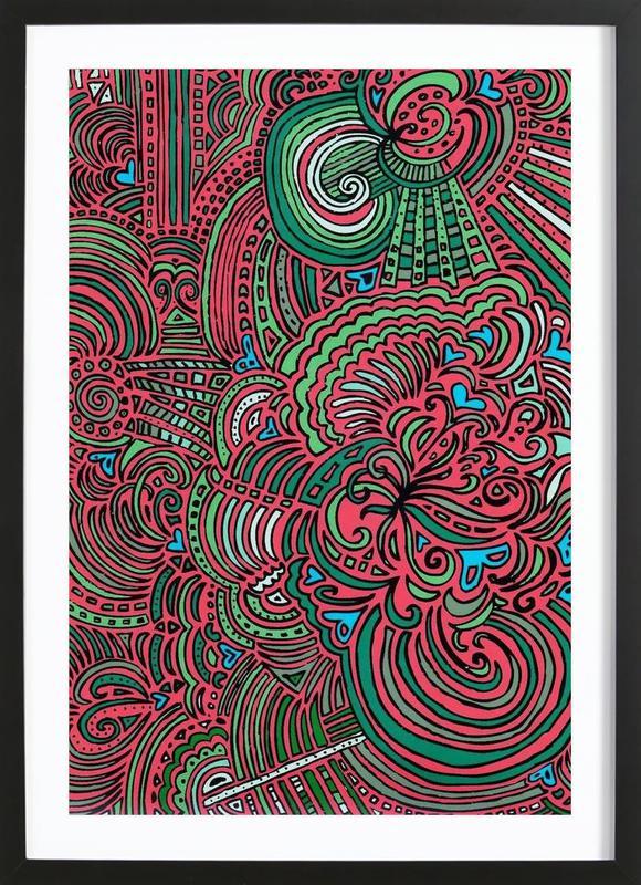 Original Drawing Meditation (salmon) Framed Print