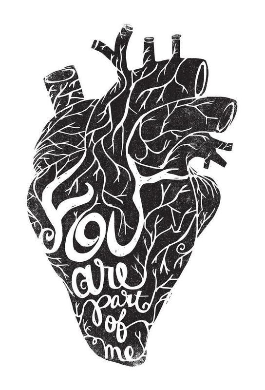 you are part of me Aluminium Print