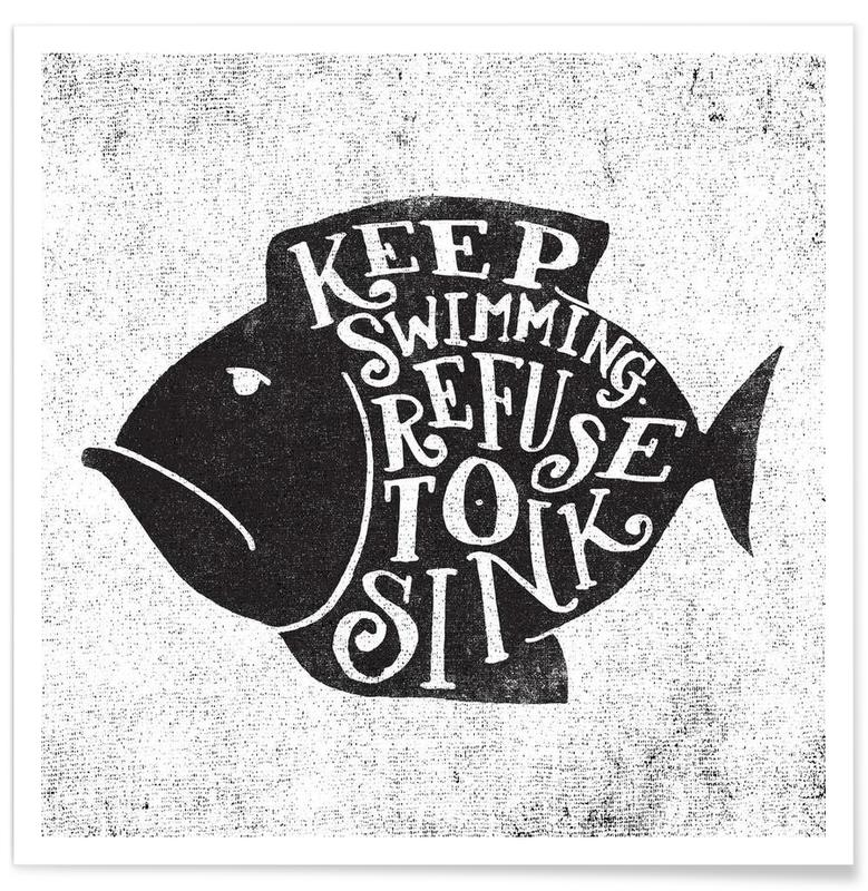 keep swimming Poster