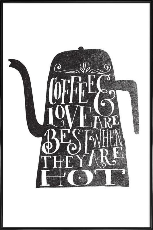 coffee & love affiche encadrée