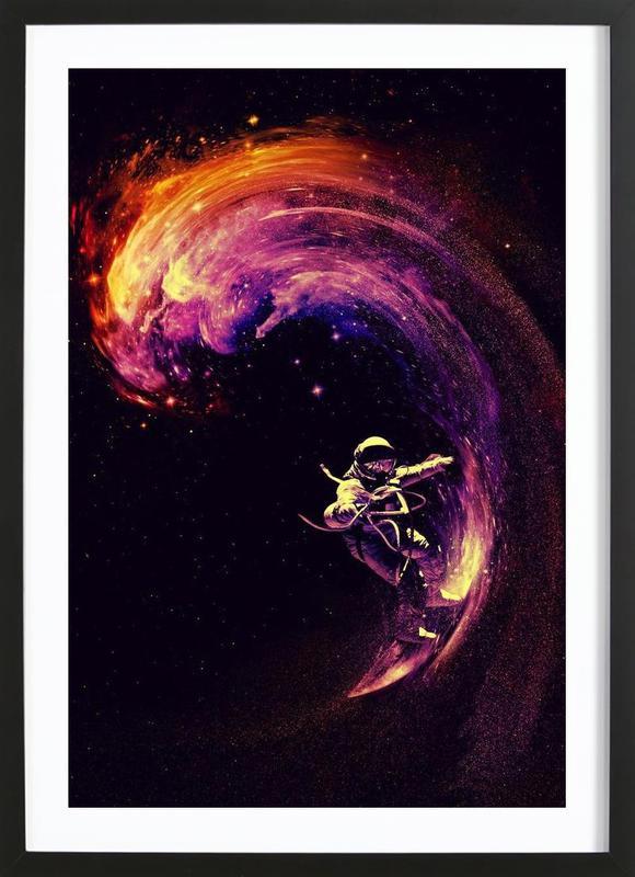 Space Surfing ingelijste print