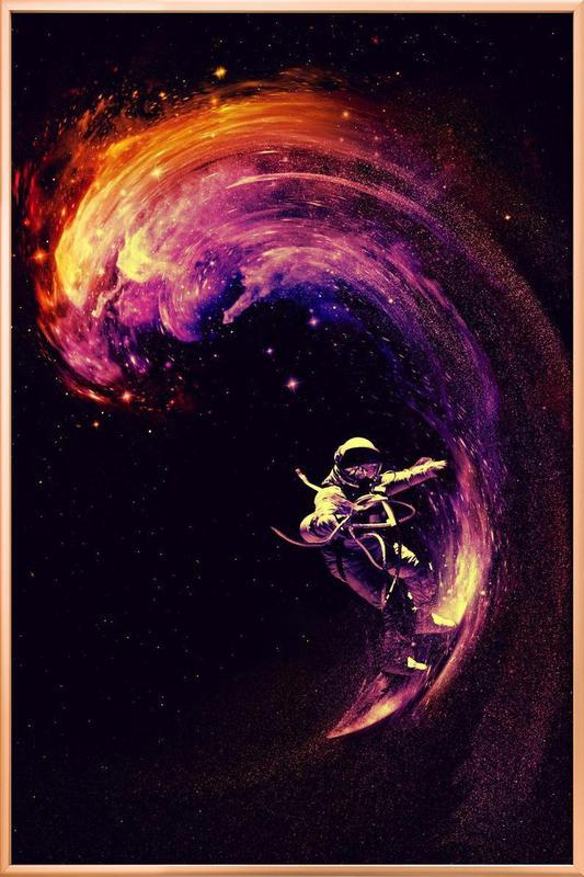Space Surfing poster in aluminium lijst