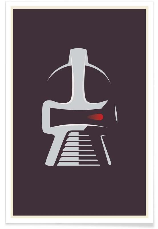 Battlestar Galactica – minimalistisch -Poster