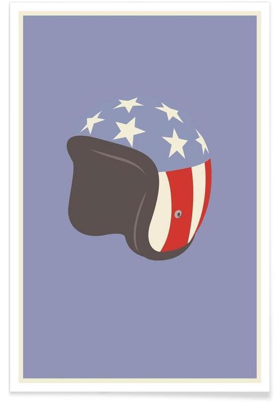Easy Rider Helmet Minimalist Poster